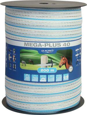 40 mm M 145 Weidezaunband-Megatape-Zaunband 200 m lang braun