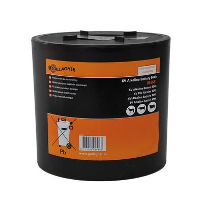 Gallagher Round Batterie Alkaline 6V/90Ah - 180x180x170mm